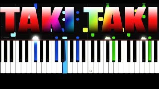 DJ Snake - Taki Taki - EASY - PIANO TUTORIAL