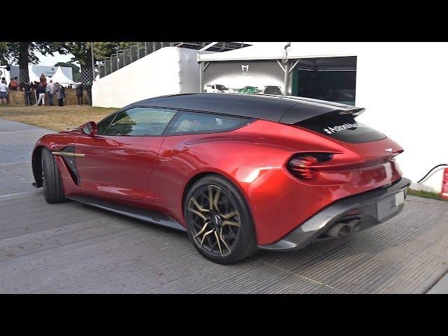 $1 Million Aston Martin Zagato Shooting Brake - Lovely Exhaust Sounds!