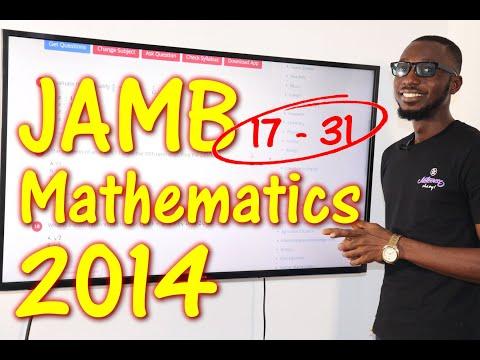 JAMB CBT Mathematics 2014 Past Questions 17 - 31