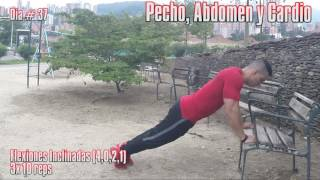 DIA 37 RUTINA CALISTENIA PECHO, ABDOMEN Y CARDIO LIVE CALISTHENICS
