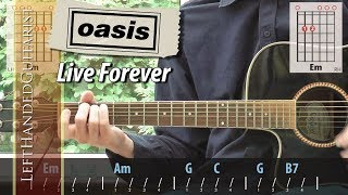 Oasis - Live Forever | acoustic guitar lesson
