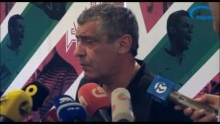 Fernando Santos nega euforia, mas vai ser difícil bater Portugal
