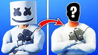 15 Skins Fortnite SANS MASQUE! (Marshmello)