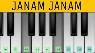 Janam Janam (Dilwale) Arijit singh - Perfect Piano Tutorial