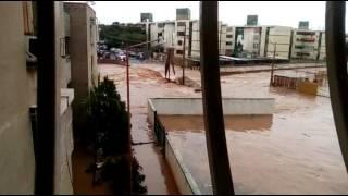 Captan en video afectos del aguacero caído en Maracaibo, El Varillal