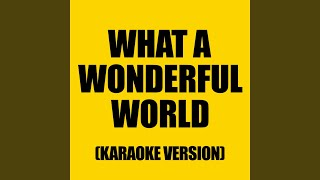 What a Wonderful World (Originally performed by Rod Stewart)