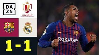 Malcom mittendrin im Clasico: FC Barcelona – Real Madrid 1:1   Copa del Rey   DAZN Highlights
