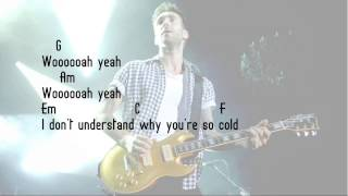 Maroon 5 - Cold ft. Future ( Lyrics + Chords ) ||