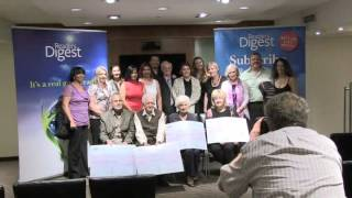 Reader's Digest Strike It Rich Sweepstakes Winners Presentation (08/02/2013)