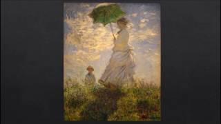 la promenade, la femme a l'ombrelle, claude monet