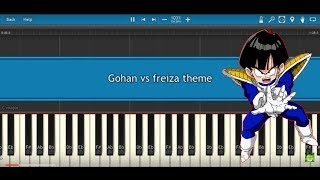 Dragon Ball Z: Gohan vs. Frieza theme: Synthesia Piano tutorial