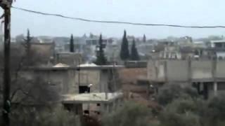 (01.24.2012) Idlib | Assad's forces randomly shelling Bara town in Jabal Azzawya
