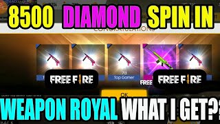 8500 Diamond ultimate purchase in free fire guns & bundles|| Free fire tricks and tips|| run Gaming