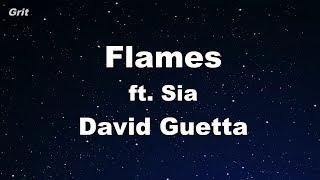 Flames - David Guetta & Sia Karaoke 【No Guide Melody】 Instrumental