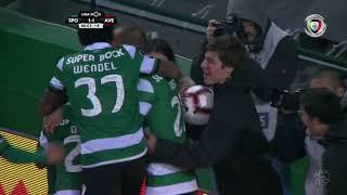 Goal | Golo Nani: Sporting (2)-1 Aves (Liga 18/19 #12)