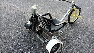 Tutorial Come costruire un Drift trike motorizzato 50cc ciao piaggio - Fai da te - DIY