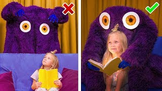 Monsters vs Kids / 9 Life Hacks to Protect Yourself Against Monsters