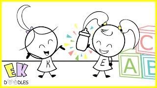 "Emma & Kate ""Milk Coma"" - EK Doodles Funny Cartoon Animation"