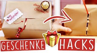 8 DIY GESCHENKE HACKS für WEIHNACHTEN! 🎁🎄 Schön dekorieren & verzieren!