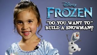 DO YOU WANT TO BUILD A SNOWMAN? 5-year-old cover by Jillian  FROZEN #TBT