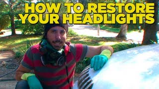 How To Restore Your Headlights [With toothpaste and avocado!]