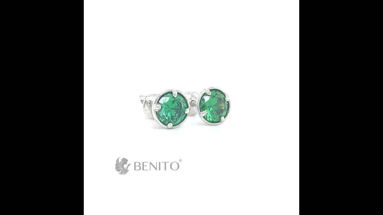 Emma Earrings Green Zircon Stone