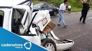 Accidente automovilístico deja 7 muertos en Tlapala, Chalco