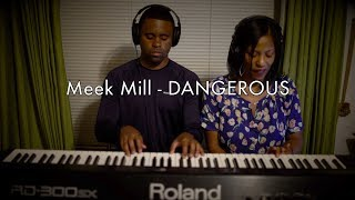 Meek Mill - Dangerous (feat. Jeremih and PNB Rock) - PIANO COVER + EASY TUTORIAL !! MUST WATCH!!!