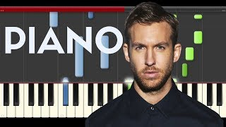 Calvin Harris How Deep Is Your Love Piano Tutorial Midi How to Play Remix Disciples Sheet