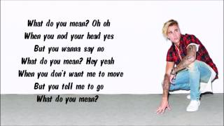 Justin Bieber - What Do You Mean? Karaoke / Instrumental with lyrics on screen