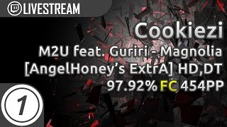 Cookiezi going GOD MODE on Magnolia DT SLIDERS | 97.92% 454pp |  Livestream osu! Highlight w/ chat!