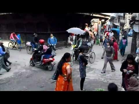 Lively Traffic in Kathmandu