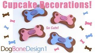 Dog Bone Cupcake Decorations - Style 1
