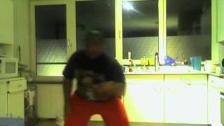 Fat black guy dancing Bruno Mars