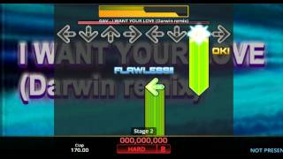 [DDR Hottest Party 2 / DOUBLE Prediction] I WANT YOUR LOVE (Darwin remix) Expert
