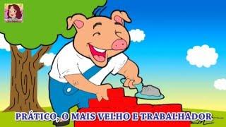 TRÊS PORQUINHOS em PORTUGUÊS com LETRA - CANTE JUNTO ! COPIAR LETRA NA DESCRIÇÃO