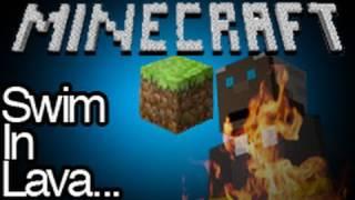 Minecraft Preacher Swimming In Lava