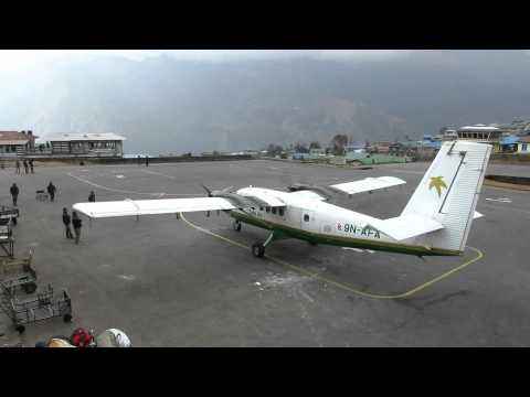 traffic Airport Lukla Nepal