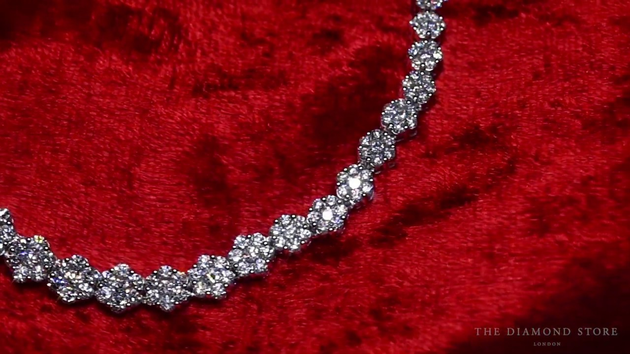 18KW Diamond Cluster Necklace – from The Diamond Store FP23