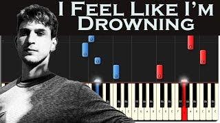 Two Feet - I Feel Like I'm Drowning | Piano Tutorial + MIDI