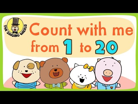 Number song 1-20 for children | Counting numbers | The Singing Walrus - YouTube