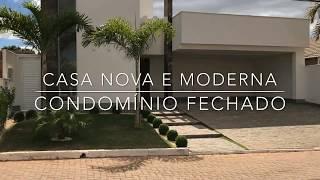 LINDA CASA NOVA E MODERNA EM CONDOMÍNIO FECHADO | VICENTE PIRES