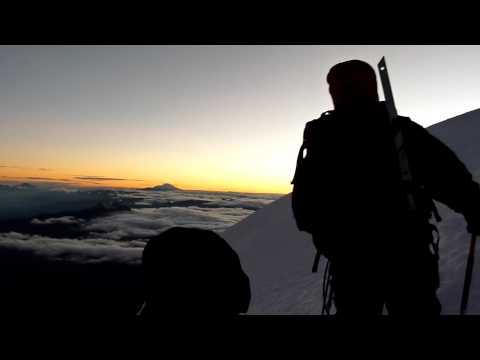 Ecuador. Cotopaxi just below the summit at sunrise.