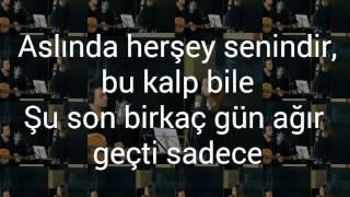 Söz konusu aşk bu Lyrics ||Meral and Kutsi