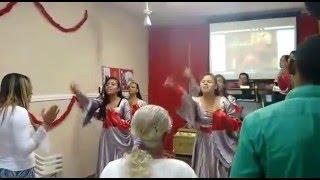 Enche-nos Elaine de Jesus, Vanilda Bordieri, Ministério de Dança Sapatilha de Fogo.