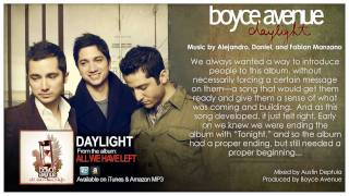 Boyce Avenue - Daylight (Official Song & Story Behind It) on Apple & Spotify