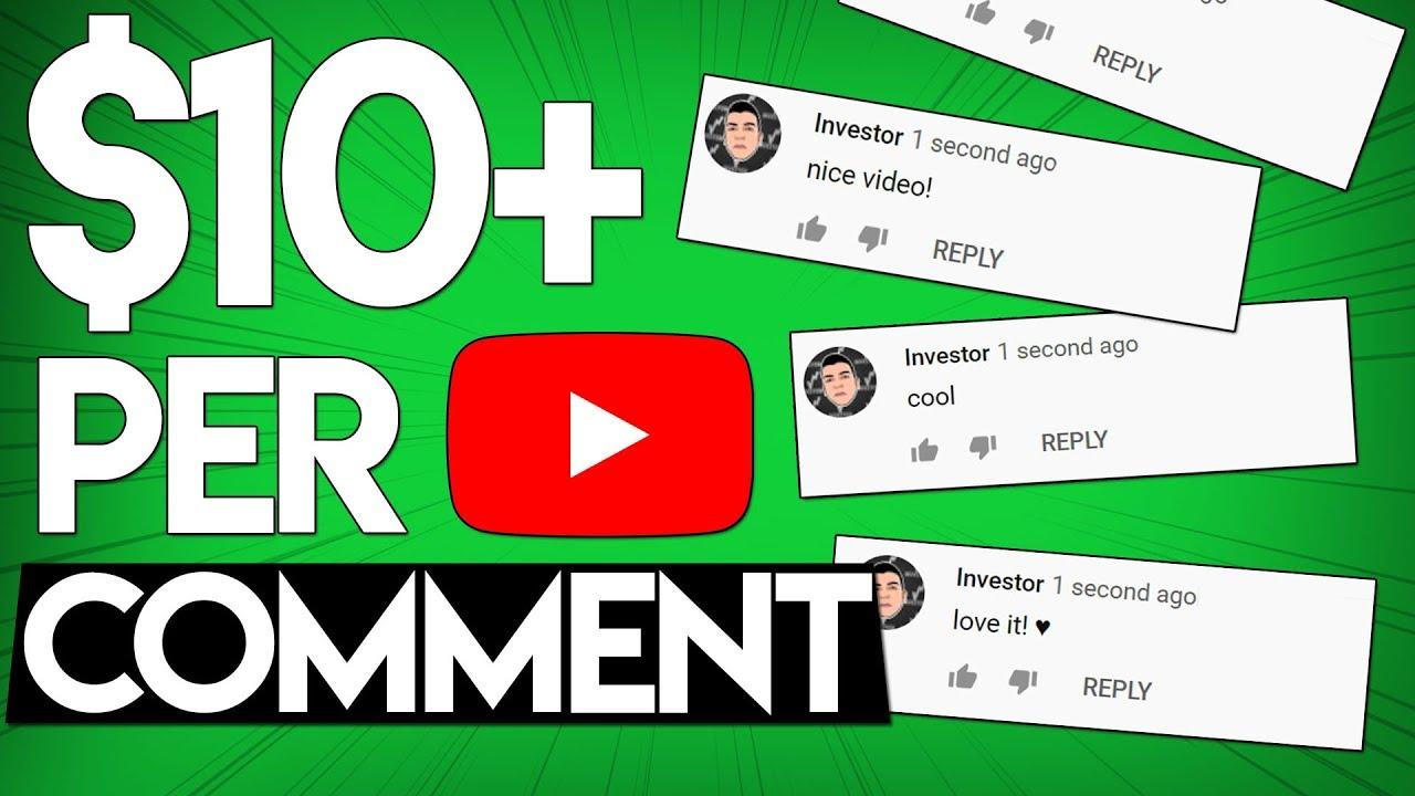 Make  Per YouTube Comment (Make Money Online)