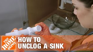 How to unclog a sink