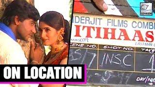 Itihaas Movie On Location   Ajay Devgn   Twinkle Khanna width=