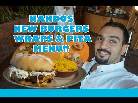 Trying something new at Nando's   مطعم ناندوز و المنيو الجديد و احلى برجر